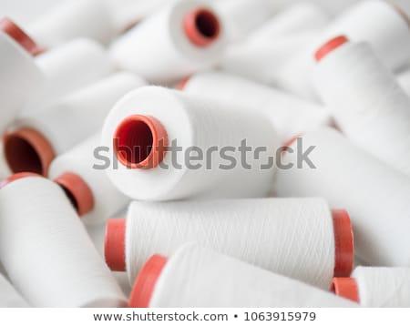 хлопка пряжи подробность текстуры аннотация ткань Сток-фото © Digifoodstock