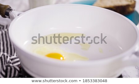 Skillet and Farm Fresh Organic Eggs Stock photo © StephanieFrey