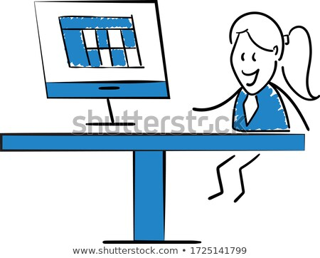 successful smiling business woman and businessman holding cardbo stock photo © curiosity