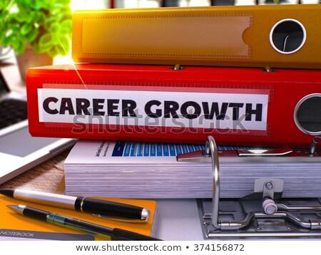Red Ring Binder with Inscription Career Growth Stock photo © tashatuvango
