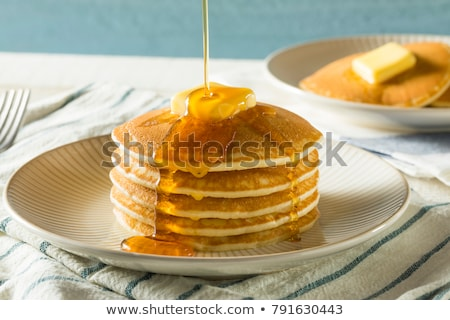 homemade american pancakes Stock photo © Lana_M