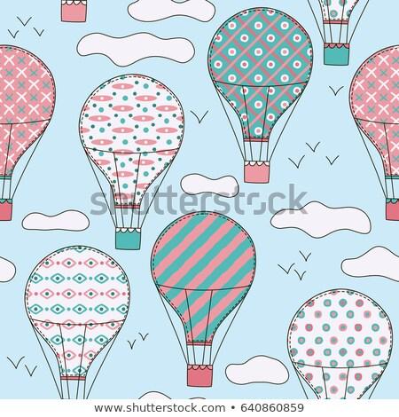 vliegen · hemel · luchtballon · kleurrijk - stockfoto © robuart