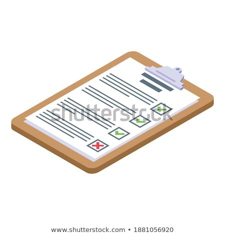 vágólap · kompetencia · 3D · szöveg · irodaszerek · asztal - stock fotó © tashatuvango