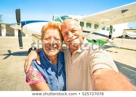 Flight around the world, bright tone journey concept Stock photo © JanPietruszka
