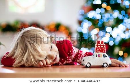 мальчика окна ребенка весело молодые завода Сток-фото © IS2