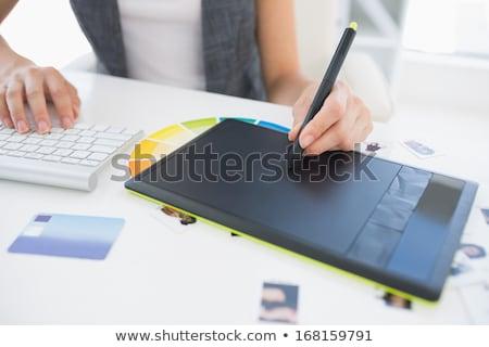 gráfico · estilista · escritório · projeto · laptop - foto stock © wavebreak_media