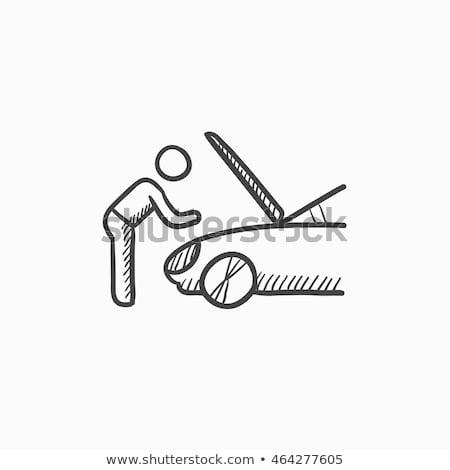 Mann · Auto · Symbol · Vektor · Gliederung · Illustration - stock foto © rastudio