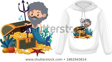 Merman vector illustration clip-art eps image Stock photo © vectorworks51