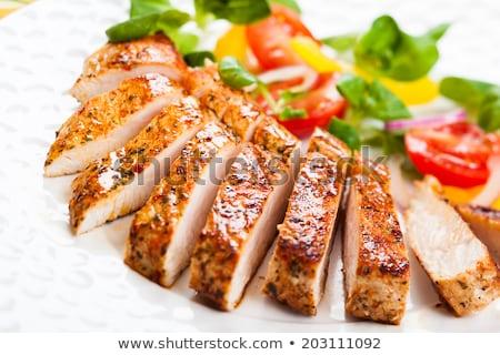 Pechuga de pollo ensalada alimentos mama almuerzo Foto stock © M-studio