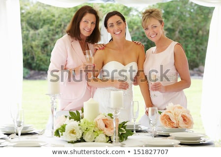 Bride with Mother and Grandmother Stock photo © IS2