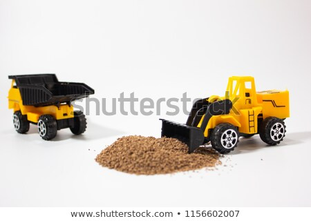 Ensemble échelle modèle camion métal base Photo stock © nemalo