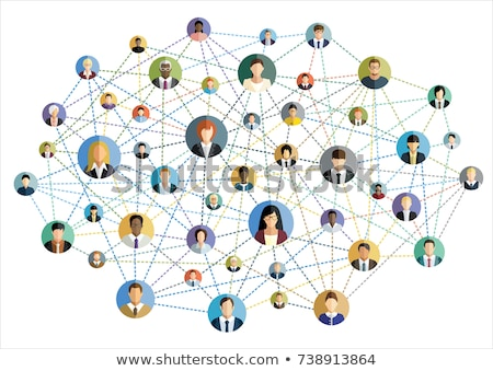 Stock photo: Social network and teamwork concept.