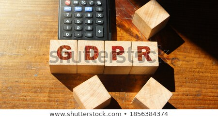 White cubes - GDPR Stock photo © Oakozhan