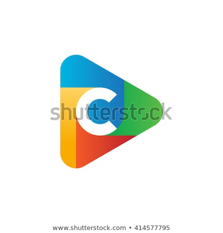 赤 青 手紙 三角形 ロゴタイプ シンボル ストックフォト © blaskorizov