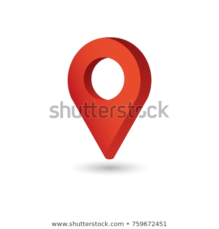 you are here red map pointer 3d stock photo © djmilic