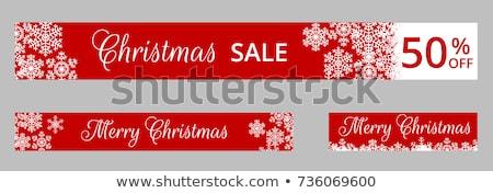 set of horizontal christmas banner templates stock photo © orson