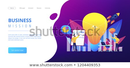 Vision statement concept landing page. Stock photo © RAStudio