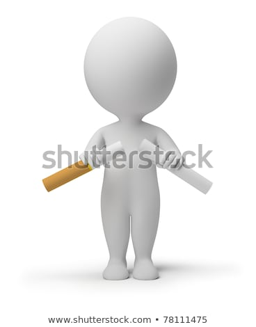 3d small people - breaking cigarette stock photo © AnatolyM
