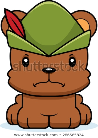 cartoon angry robin hood bear stock photo © cthoman