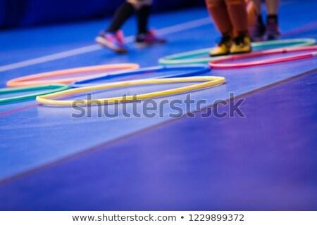 Children training futsal jumping drills Stock photo © matimix