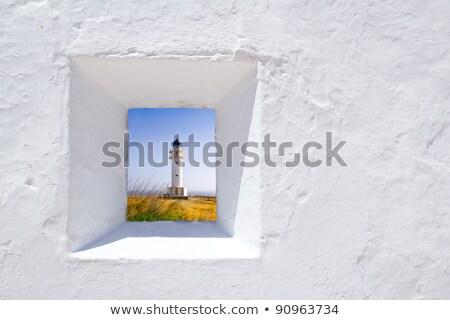 Barbaria berberia cape lighthouse Formentera meadow Stock photo © lunamarina