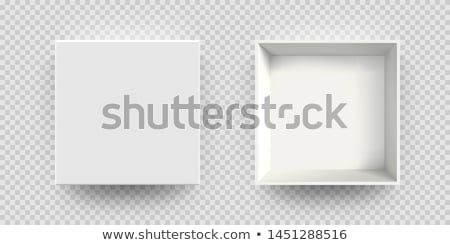 Open white empty gift box on transparent background. Top view. Template for your presentation, banne stock photo © olehsvetiukha