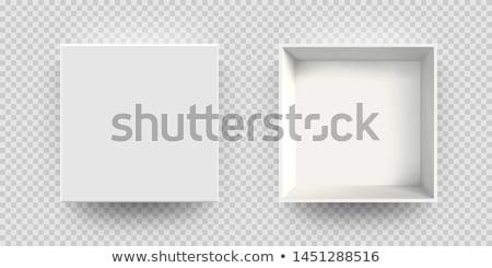 Abierto blanco vacío caja de regalo transparente superior Foto stock © olehsvetiukha