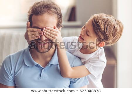 happy father spending time with his little son stock photo © deandrobot