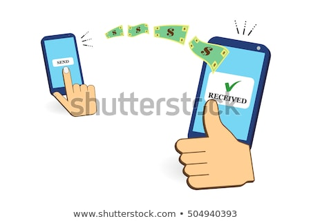 Stock photo: Business man receives funds transfers