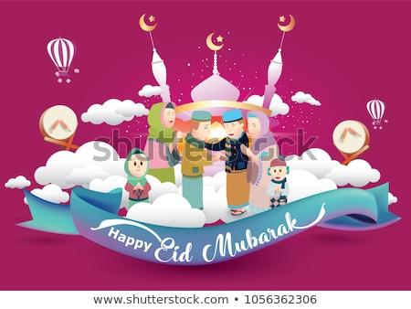 lovely eid mubarak festival banners design Stock photo © SArts