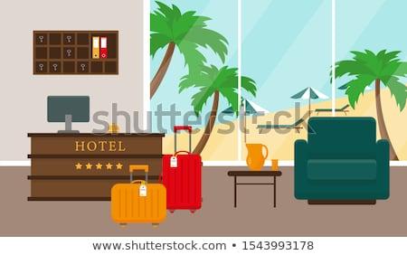 Travels near Reception, Check into Hotel Vector Stock photo © robuart