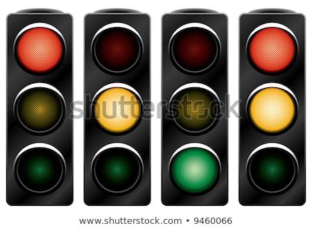 kırmızı · trafik · siyah · soyut · vektör · sanat - stok fotoğraf © boroda