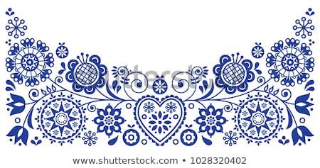 украшения вектора полосы цветок лист фон Сток-фото © MyosotisRock