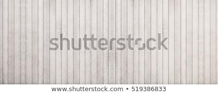 fal · fából · készült · deszkák · festett · fehér · szürke - stock fotó © lopolo