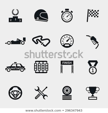 racing icon set Stock photo © bspsupanut