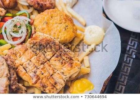 Grande set carne piatto patate Foto d'archivio © galitskaya