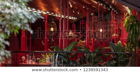 Kínai japán étterem távolkeleti stílus építészet Stock fotó © robuart