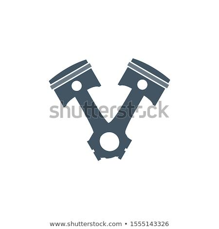 Auto motor zuiger voorraad geïsoleerd witte Stockfoto © kyryloff