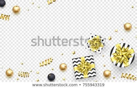 ajándék · szalag · arany · íj · csomagolás · arany - stock fotó © robuart