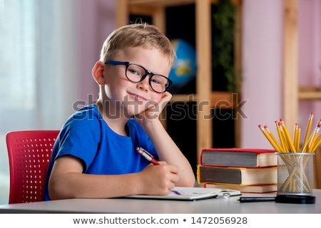 小さな 小学校 男の子 書く 試験 教室 ストックフォト © zurijeta