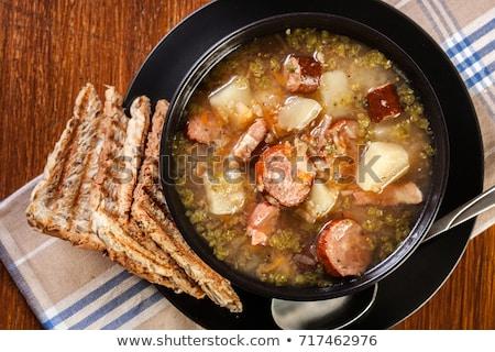 Aigre soupe seigle farine alimentaire oeuf Photo stock © joannawnuk