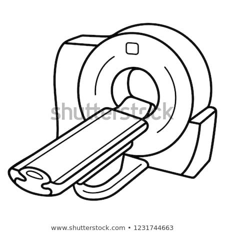 Mri uitrusting icon vector schets illustratie Stockfoto © pikepicture