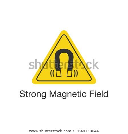 Segurança etiqueta iso forte magnético campo Foto stock © kyryloff