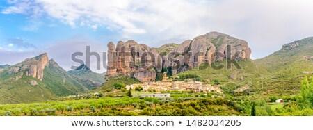 Aguero village, Aragon, Spain Stock photo © borisb17
