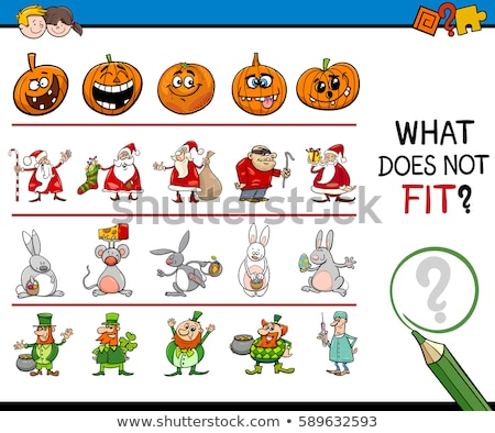 educational pattern game for kids with Easter characters Stock photo © izakowski