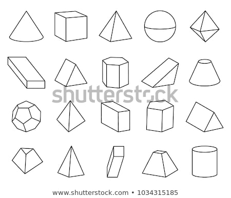 3D Octahedron - Vector illustration with Connected Lines. Stock photo © tashatuvango