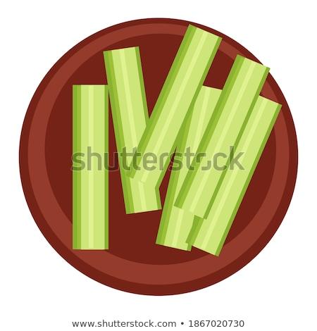 Bow Uncooked Vegetable, Green Onion Veggie Leek Stock photo © robuart