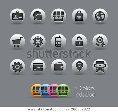Bolha ícones vetor arquivo cor ícone Foto stock © Palsur