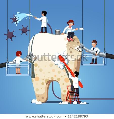 Tandheelkundige oraal problemen reclame poster vector Stockfoto © pikepicture