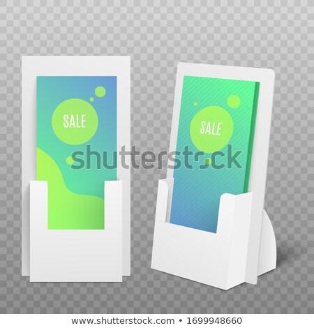 Blank brochure holder mockup Stock photo © montego